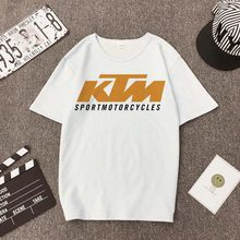 KTM competition cotton T-shirt riding motorcycle rider men's inspiration racing bike riding casual t shirt(China)