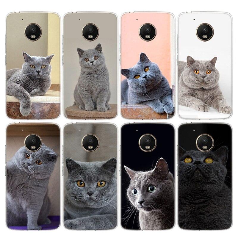 British Shorthair Cat Phone Case For Motorola Moto G8 G7 G6 G5 G5S G4 E6 E5 E4 Plus Power Play EU One Action Macro Vision Cover