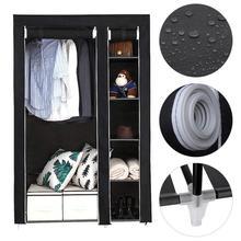 Bedroom Cloth Wardrobe Furniture Storage Cabinet Fabric Closet Folding Non Woven Portable Waterproof Dust-proof Furniture HWC