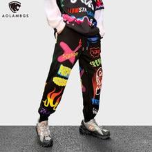 Aolamegs – pantalon de survêtement pour homme, survêtement, Style Hip Hop, Streetwear, à la mode, imprimé de dessin animé drôle, automne