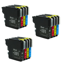 12x LC985 LC975 LC39 Cartucho de Tinta de Impressora Compatível Para O Irmão DCP385C DCP J125 DCP J315W MFC J415W MFC J410 MFC J700D J700DW