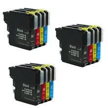 12x LC985 LC975 LC39 чернила для принтера картридж совместимый с DCP385C DCP J125 DCP J315W MFC J415W MFC J410 MFC J700D J700DW