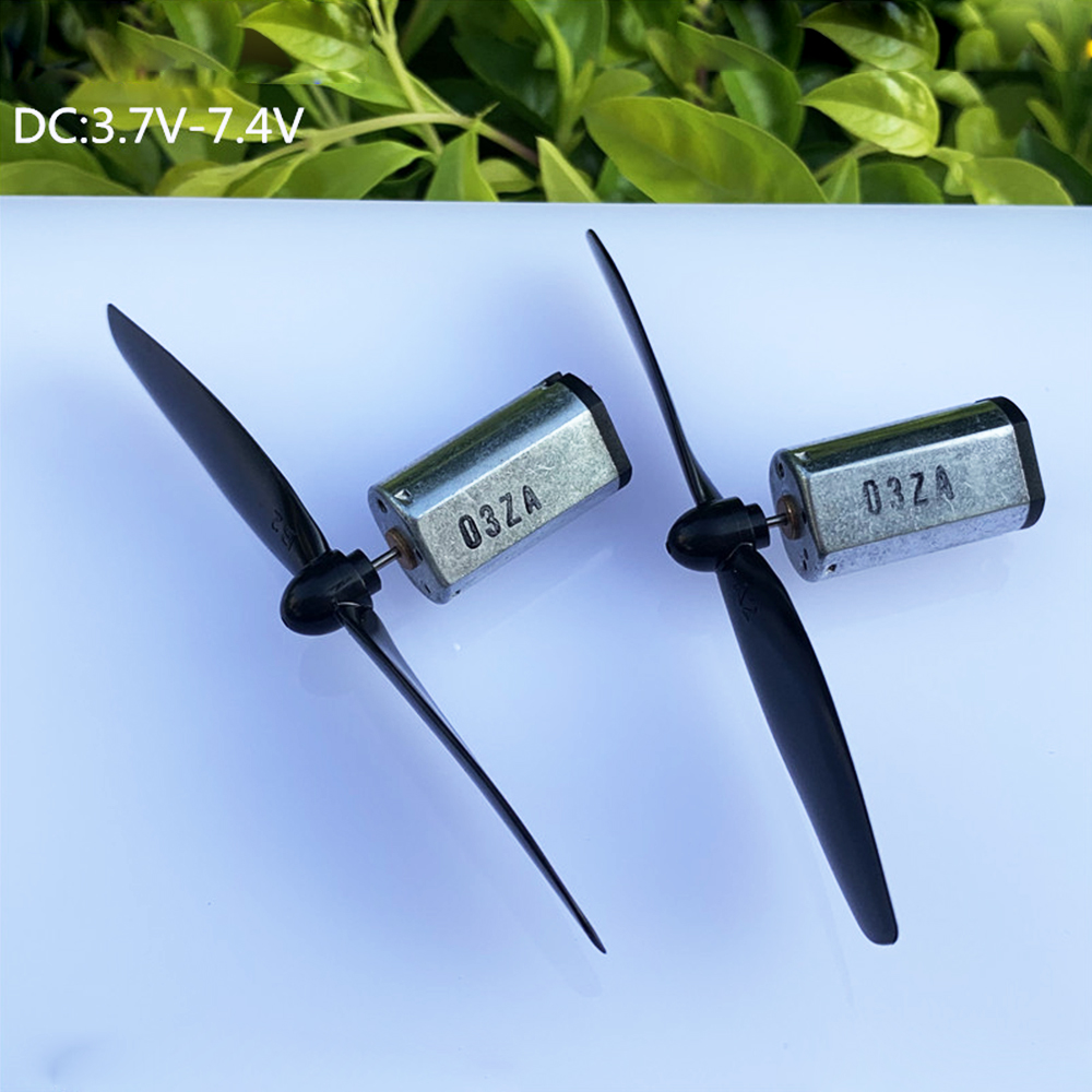 2PCS Micro N30 Carbon Brush Motor DC 3.7V 30000RPM Strong Magnetic+propeller Set DIY RC Drone Quadrotor & Miniature Glider