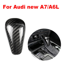 New Carbon Fiber Shift Knob Head Cover for Audi new A7/A6L 2015 2018 Gear Shifter Lever Stick