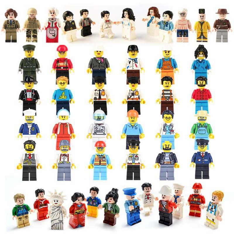 Mini People Series Occupation Building Blocks LegoINGlys MiniFigure Bricks DIY Toys For Children Boys Kids Christmas Gift