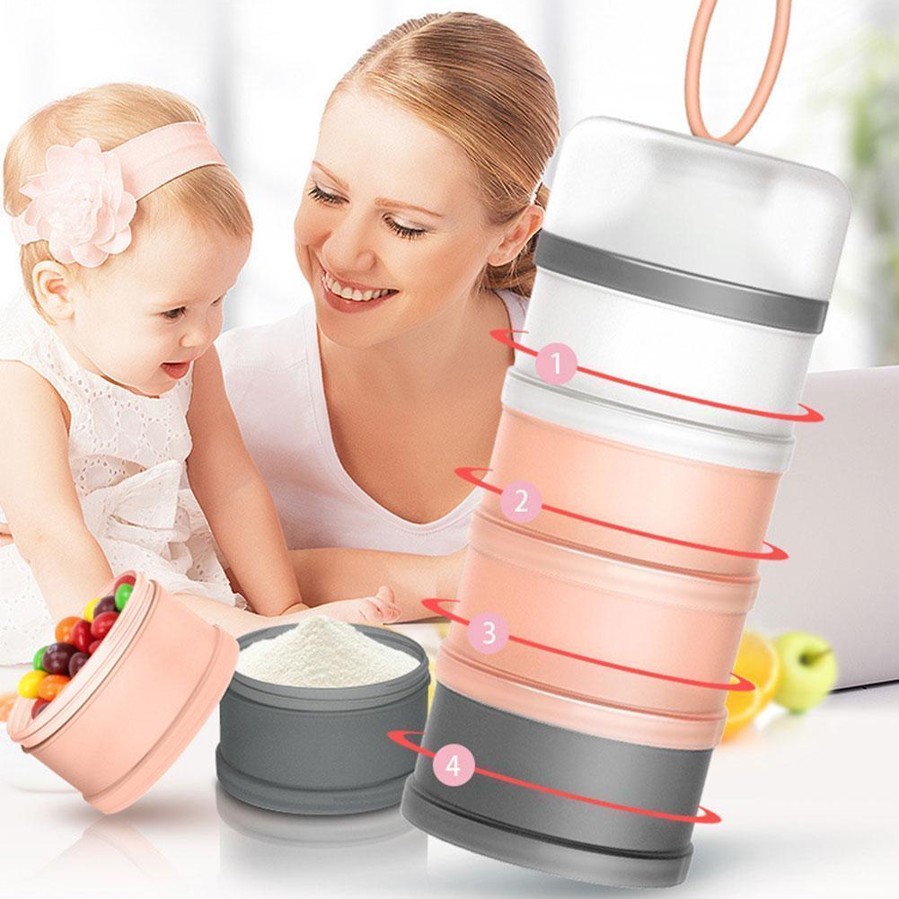 Fidget Toys Grid Milk Powder Formula Dispenser Food Container Box Food Toddler Baby Kids For Baby Feeding Storage Boxes Stor