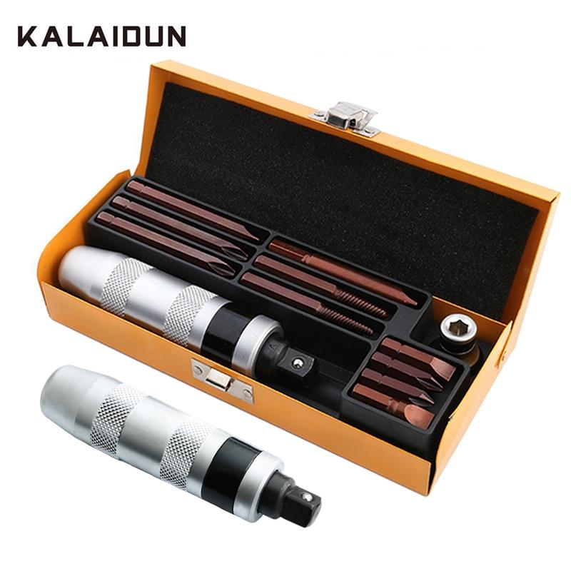 Набор ударных отверток KALAIDUN, 13 шт., Мощная ударная отвертка, долото, многофункциональная отвертка промышленного класса