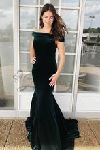 Женское винтажное вечернее платье русалка Зеленое Длинное вельветовое