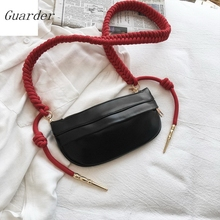 Guarder New Women Chest Bag Fashion Weaving Belt Waist For Shoulder Messenger PU Zipper Phone Packs GUA0020
