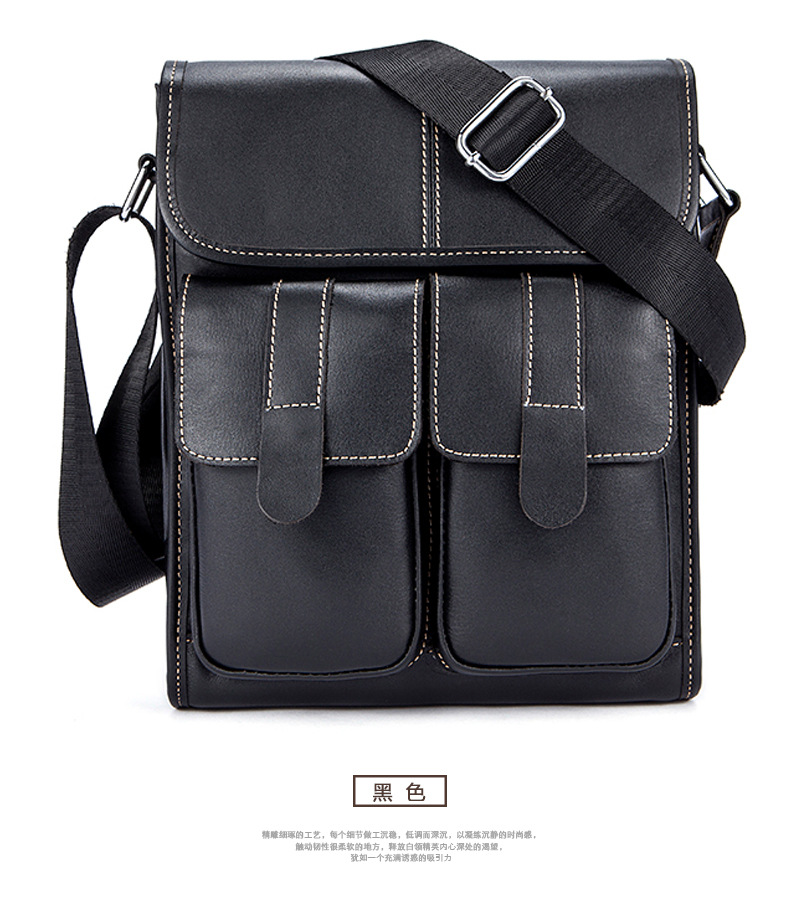 Display Fancy Mini Messenger Bag For Male's Personalized Shoulder Bag For Men's On Cross Body Bags In Black Color