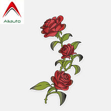 Aliauto Car Stickers Beautiful Rose Flowers Auto Decor Vinyl Decal for Opel Astra J Kia Rio 3 Mustang Renault Peugeot,17cm*10cm(China)