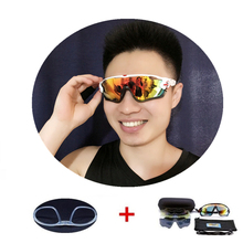 5 Lens Sports Cycling Sunglasses Polarized Eyewear TR90 Men