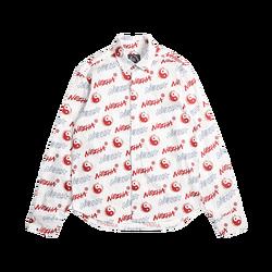 Casual Shirt WOOKONG New Arrival Men's Fashion Casual Long Sleeve Shirts Unique Design Polka-Dot Printed Cotton shirts