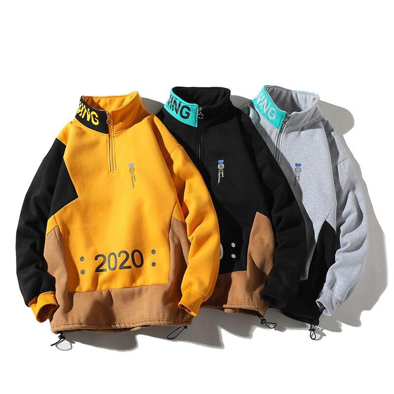 Мужские толстовки harajuku уличная одежда 2020 модные повседневные