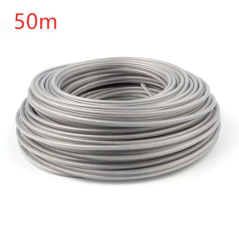 Outdoor Trimmer Line Power Replacement Garden Tools Lawn mower Strimmer Brushcutter Wire Cord 3mm Gray 50 Meters