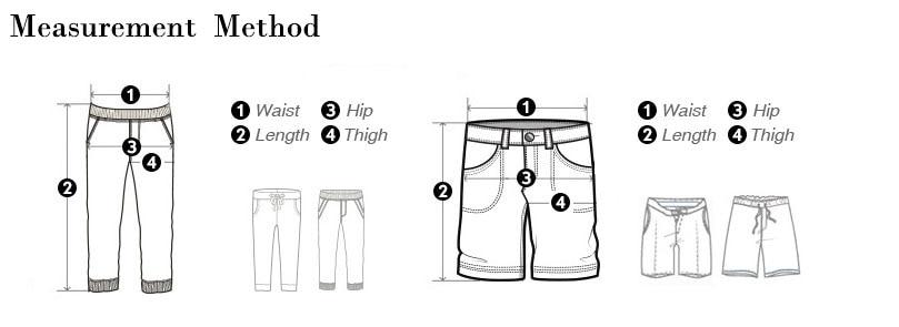 裤子简易尺寸图