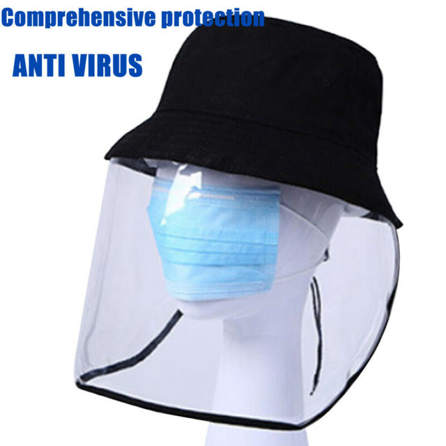Anti-spitting Anti-Saliva Flu Hat With Face Shield Cover Peaked Cap Hat Outdoor Fisherman for Adult Women 1