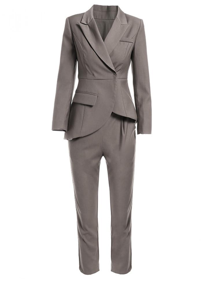 Suit women two-piece female blazer set temperament high-end female office ladies OL professional pants suit female autumn new 22