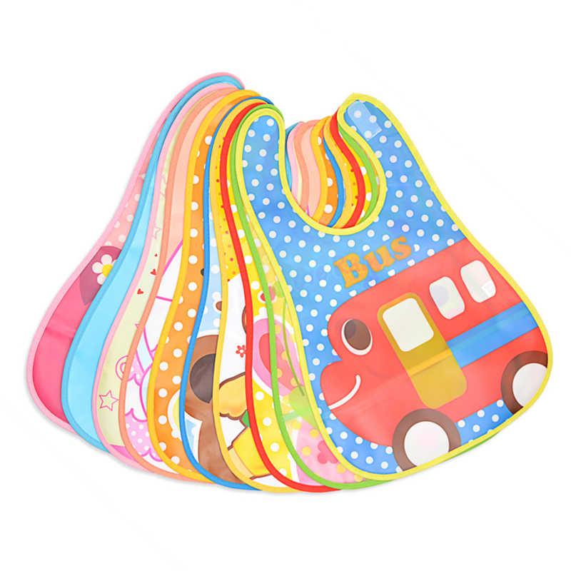 1 pçs elefante babador ajustável babadores de bebê plástico à prova dwaterproof água almoço alimentação babadores bebê dos desenhos animados pano de alimentação crianças avental do bebê de