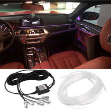 Auto Umgebungs Licht Led Fuß Lampe Auto Atmosphäre Lichter Led Streifen RGB Farbe Mehrere Modi Automotive Interior Dekorative Lichter