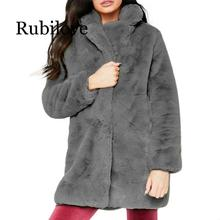 Rubilove Clothes coat Women Winter Lady Womens Warm Long Faux Fur Coat Jacket Parka Outerwear Coats and  women