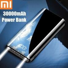 Xiao mi power Bank 30000 мАч портативное зарядное устройство 30000 мАч USB PoverBank Внешнее зарядное устройство для iPhone Xiaomi mi 9 8