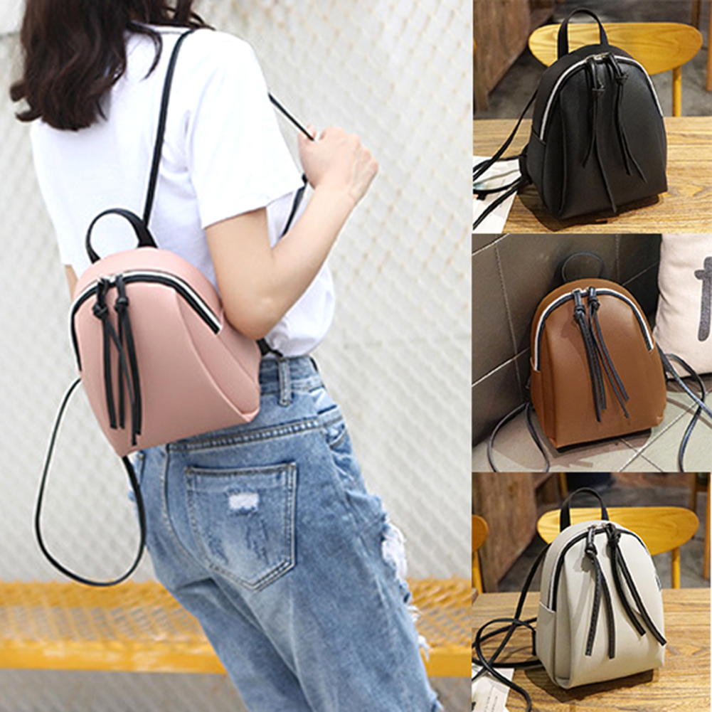 Small Backpack Women PU Leather Bag 2019 Summer Girls Multi-Function Mini Zipper Backpacks Female School Backpack For Teenage