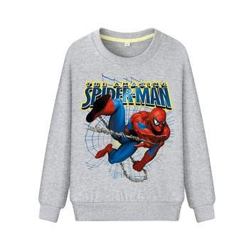 2019 New baby sweater autumn Spiderman Boys Sweatshirts for Kids Long Sleeve Hoodies Shirt 2019 Children's Sweatshirt 1