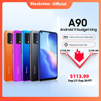Blackview A90 Smartphone Helio P60 Octa Core 12MP HDR Camera Mobile Phone 4GB+64GB 4280mAh Android 11 Telephone 4G LTE Celular 1