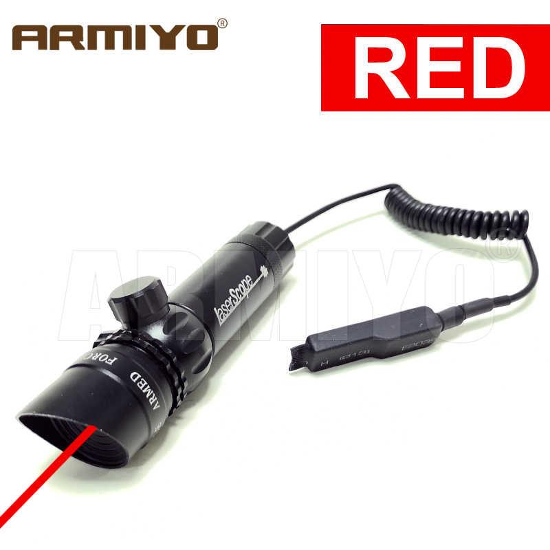 Armiyo tactique 5mW 532nm 655nm bouchon biseauté vert rouge point réglable Laser chasse portée lumière vue montage à distance pressostat