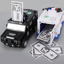 Banknote Car Auto-rolling Money Password Fingerprint Piggy Bank Child Boy Piggy Box Creative Piggy Bank