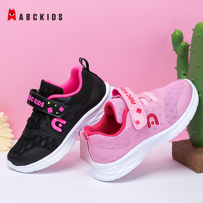 ABCkids Boys Girls Breathable Mesh Sneakers Toddler Kids Children School Sport Shoes Soft Running Shoes  Hook Loop Shoelace