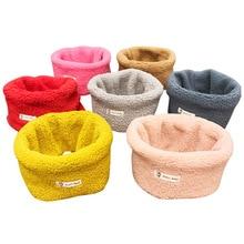 Осенне-зимний детский плюшевый шарф, теплый шейный шарф для девочек, для мальчиков вельветовые шарфы, детский воротник с круглым вырезом, волшебный шейный платок