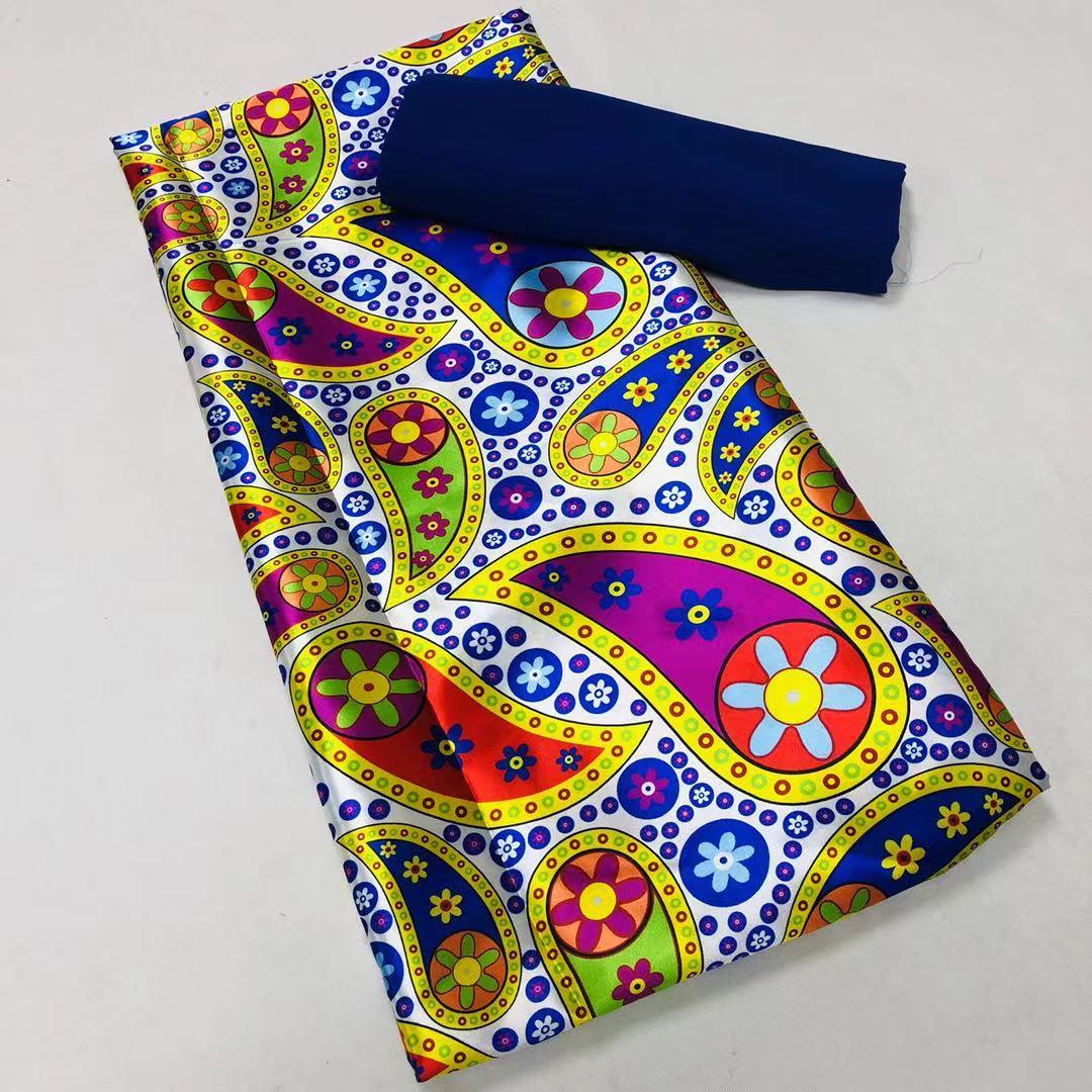Африканский шелковый халат с принтом атласное платье анкарская ткань нигерийская кружевная ткань жаккардовая парчовая Ткань хлопковая вы...