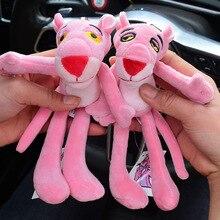 цена 2020  Cartoon Cute Animal Anime Pink Panther Keychain Rabbit Fur Ball Key Rings Cute Key Chain Women Car Bag Charms Pendan онлайн в 2017 году