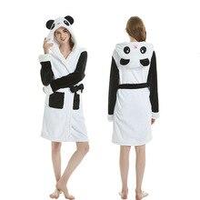 Зимний халат кигуруми с единорогом, Пижама для взрослых, фланелевый банный халат с животными, одежда для сна для женщин и мужчин, домашний халат с пандой, пижамный комплект