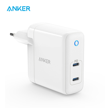 Anker 60W 2-Port USB C Charger, PowerPort Atom PD 2 [GAN Tech] Compact Foldable Wall Charger, Power Delivery for MacBook Pro