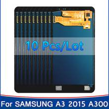 10 piezas para Samsung Galaxy A3 2015 A300 A3000 A300F A300FU A300DS A300X A300F/DS A3000 LCD pantalla táctil digitalizador Asamblea