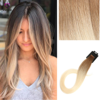 VSR Straight Tape In Human Hair Extensions Double Drawn Skin Weft Remy Hair PU Tape Hair Extensions Premium Quality