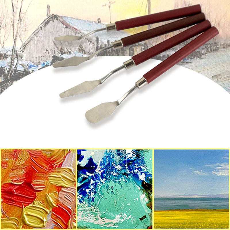 1Pc Professional Stainless Steel Spatula Kit Palette Knife For Oil Painting  Arts Paint Tool Set Flexible Blades Art Supplies