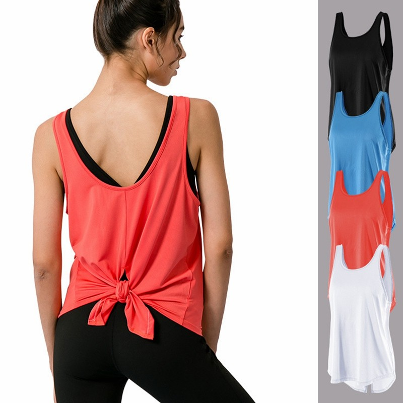 Zumba Active Backless Dance Open Back Workout Tank Tops for Women Chemise Femme