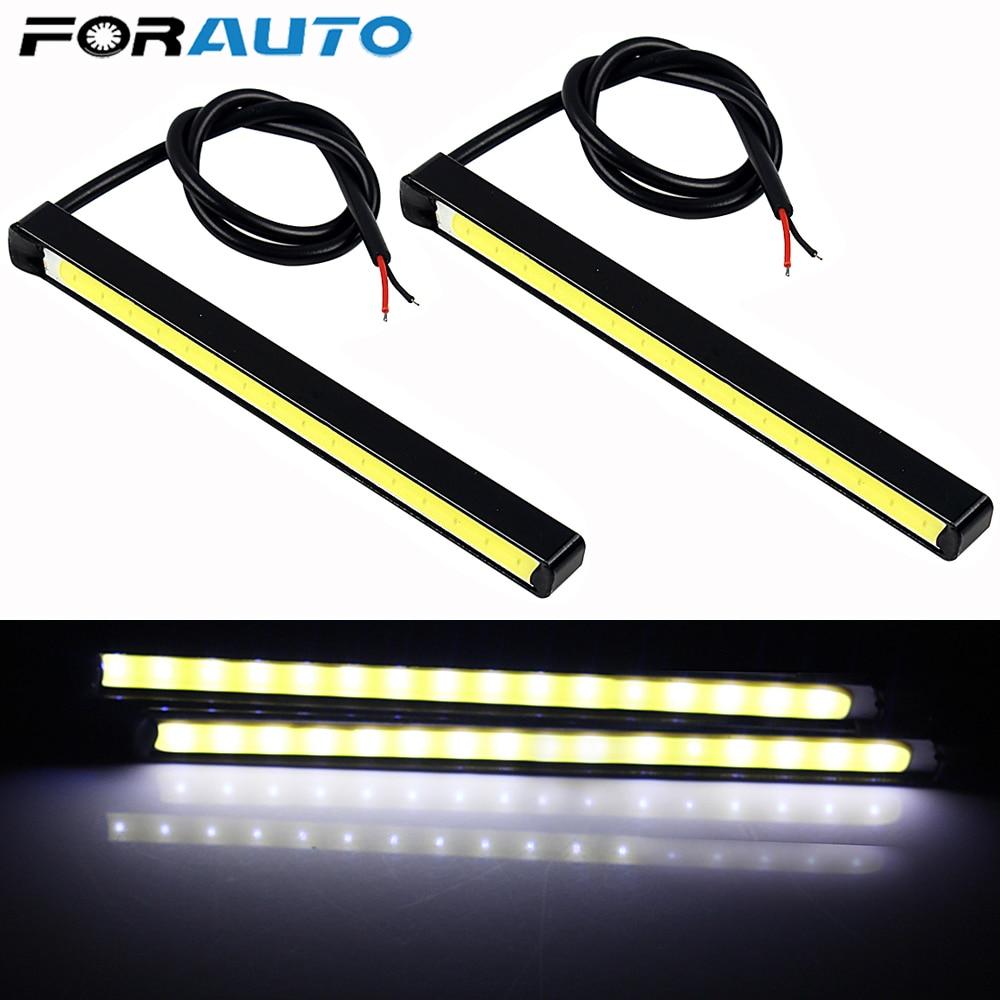 FORAUTO 2pcs DRL LED COB Car Daytime Running Lights 10.5cm DC 12V Driving Fog Lamps Car-styling