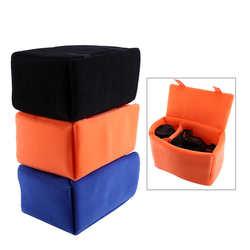 Portable SLR Camera Insert Bag Inner Partition Padded Protector Bag For Sony Canon DSLR SLR Camera Bag camera case