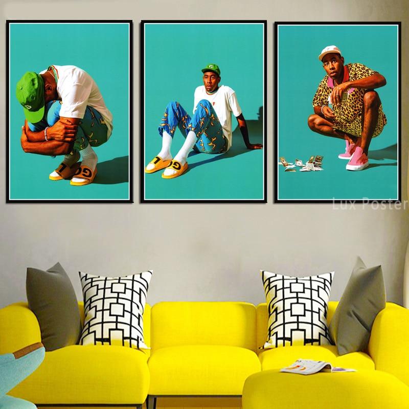 P-744 Art Tyler The Creator American Odd Future Hip Hop Star LW-Canvas Poster