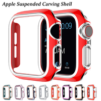 Cubierta protectora de la PC dura de dos tonos para Apple Watch SE Series 6 5 4 3, parachoques para iWatch 40mm 44mm 38mm 42mm