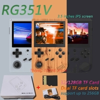 Consola de juegos RG351V, 2021G, pantalla de 128 pulgadas, Mini portátil Retro, sistema de bolsillo abierto, consola de juegos portátil, novedad de 3,5
