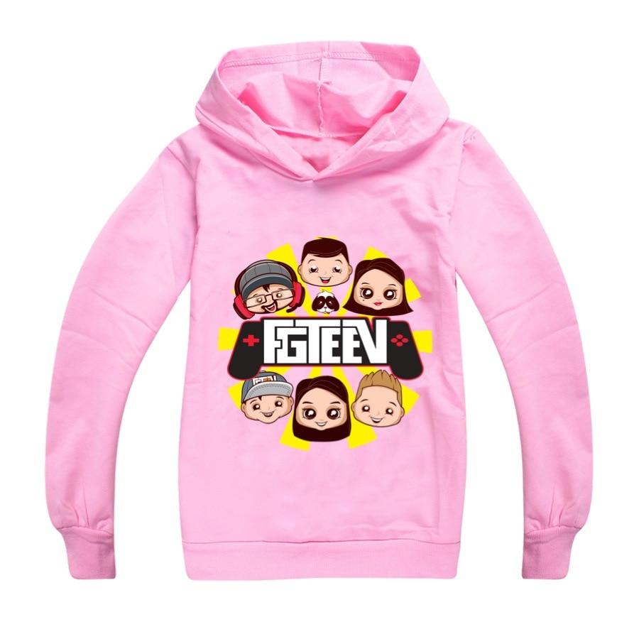9 colors Clothes Kids Cartoon FGTEEV Boys Girls Hooded Casual Tracksuit Cotton Full Chidren T Shirt Unisex Sport Clothing+sunhat 4