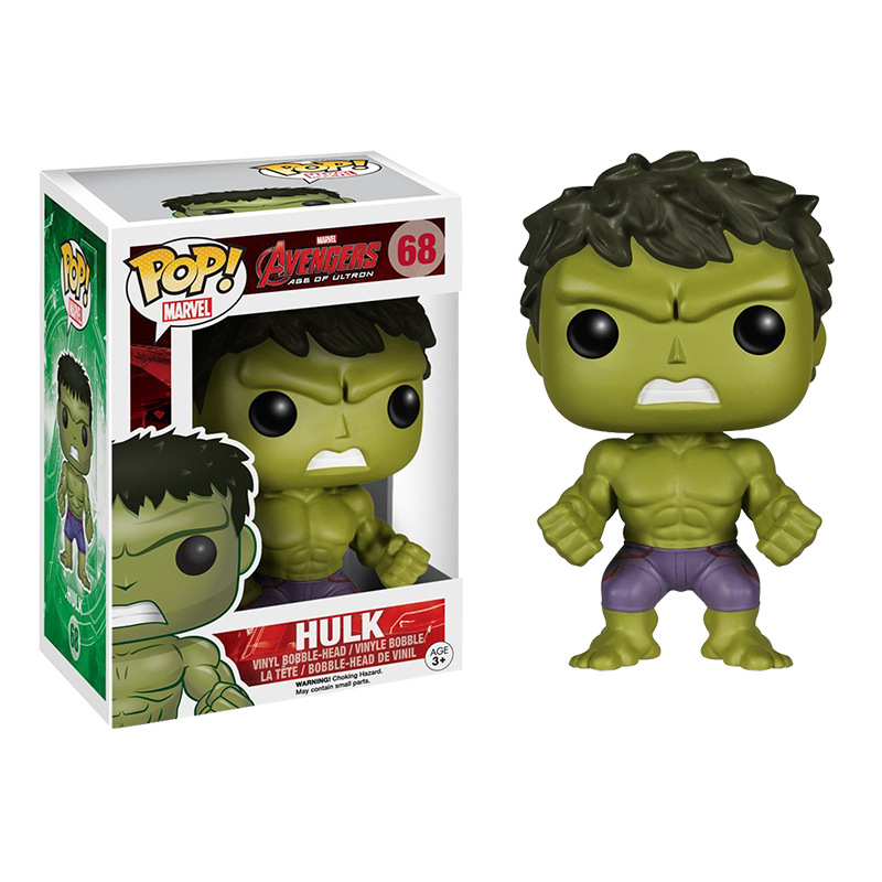 FUNKO POP Marvel Movie Avengers Hulk 68# Vinyl Action Figure Brinquedos Collected Model Toys For Children Christmas Gift