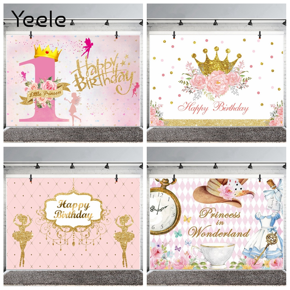 Yeele glitter princesa bebê fundos, aniversário primeiro festa fotografia backdrops fotografia backgrops para estúdio de fotos