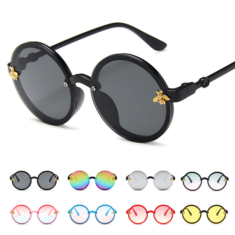 Steampunk Bee Kids Sunglasses Boys Girls Round Sun Glasses 2020 Luxury Vintage Children Sunglasses Oculos Feminino Accessories